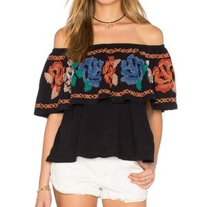 Embroidered Free People 'To The Left' Top